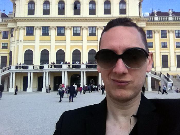 In front of Schönbrunn Palace